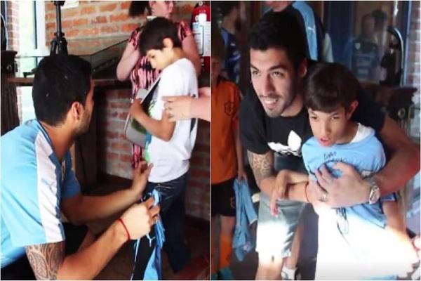 لفتة إنسانية رائعة من سواريز تجاه طفل يعاني من مرض نادرر