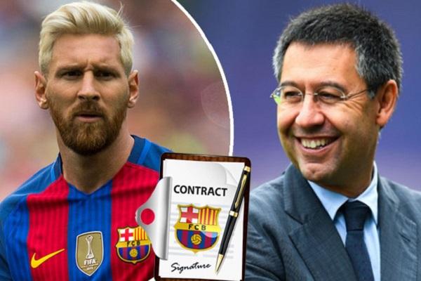 رئيس برشلونة يسعى لتجديد عقد ميسي حتى وقت اعتزاله في النادي