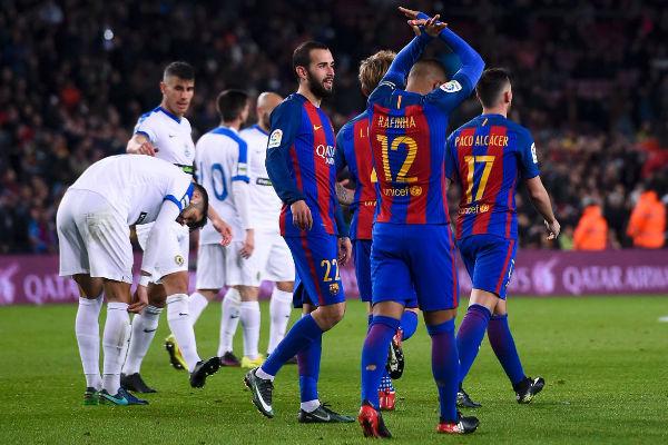 فوز كاسح لبرشلونة على هيركوليس