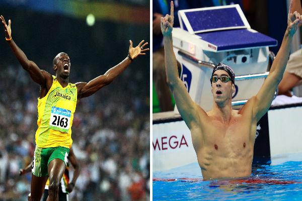 السباح الاميركي مايكل فيلبس والعداء الجامايكي اوساين بولت