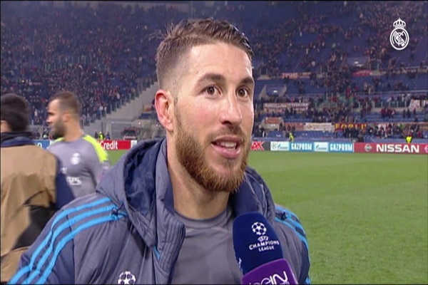 النجم الإسباني سيرجيو راموس مدافع ريال مدريد