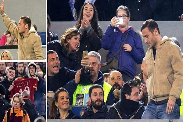 جماهير روما تساند توتي ضد سباليتي