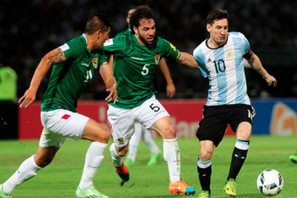 ميسي في مباراة الأرجنتين الأخيرة ضد بوليفيا