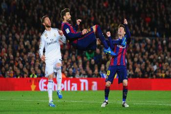 لاعبو برشلونة يدعمون قائد ريال مدريد راموس ضد بيكيه!