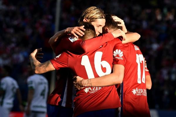 اتلتيكو مدريد يهزم غرناطة بثلاثية