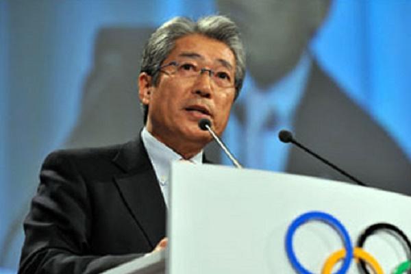 رئيس اللجنة الاولمبية اليابانية تسونيكازو تاكيدا