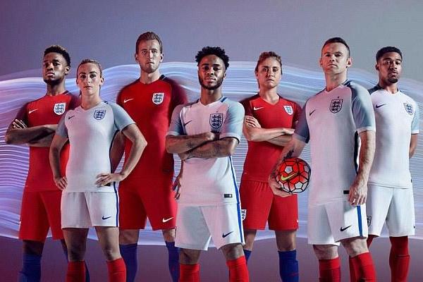 القمصان الجديدة لمنتخب إنكلترا في يورو 2016