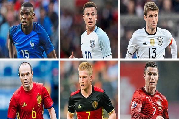 أغلى تشكيلة بين منتخبات أمم أوروبا 2016