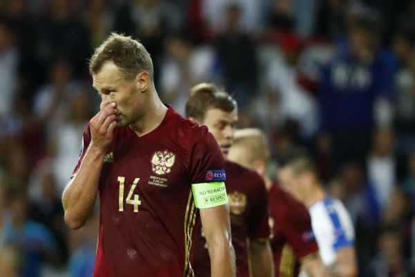 خيبة أمل روسية على وجه اللاعبين