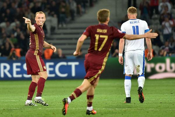 روسيا قلصت الفارق قبل نهاية المباراة بـ10 دقائق