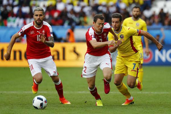 من مباراة سويسرا ورومانيا