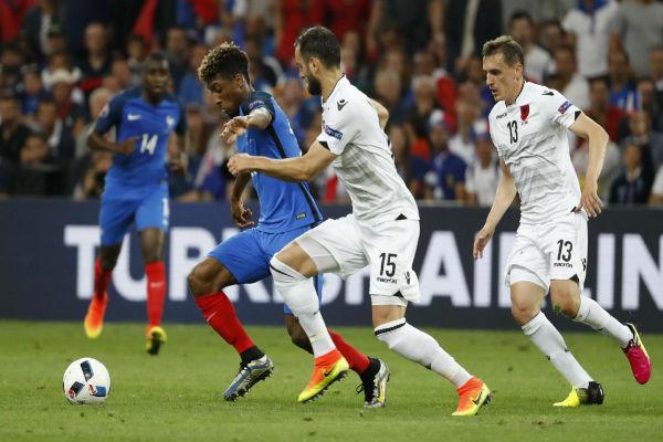 من مباراة فرنسا وألبانيا