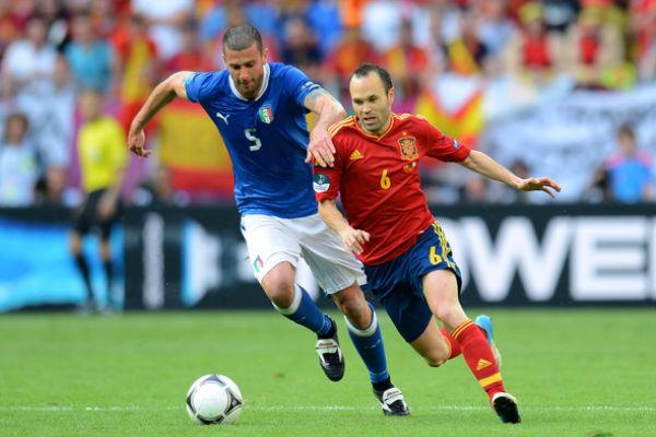 من مباراة إسبانيا وإيطاليا بيورو 2012