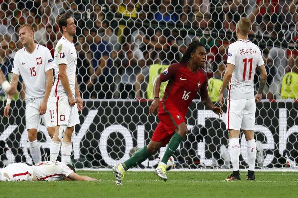 فرحة البرتغالي ريناتو سانشيز بهدف التعادل لبلاده