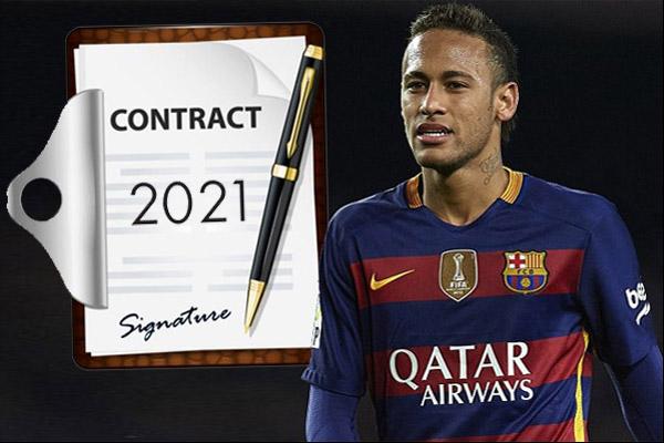 نيمار رفض تجديد عقده لبرشلونة حتى تحل مشكلته مع شركة