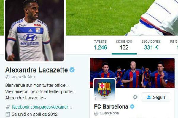 لاكازيت تابع حساب برشلونة على تويتر
