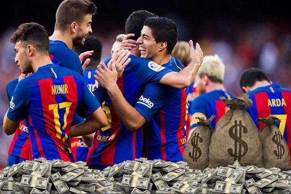 تصدر نادي برشلونة الإسباني سلم الترتيب الأوروبي بعدما منح لاعبيه رواتب تصل قيمتها إلى 293 مليون باوند استرليني