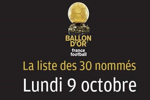 إعلان أسماء المرشحين لجائزة الكرة الذهبية في 9 أكتوبر