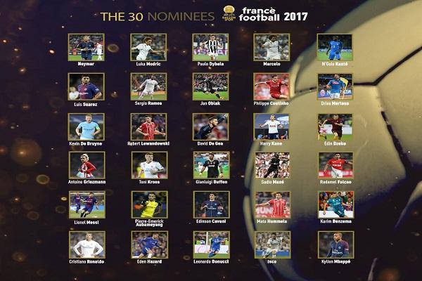 28 لاعبا ينافسون ميسي ورونالدو على جائزة الكرة الذهبية