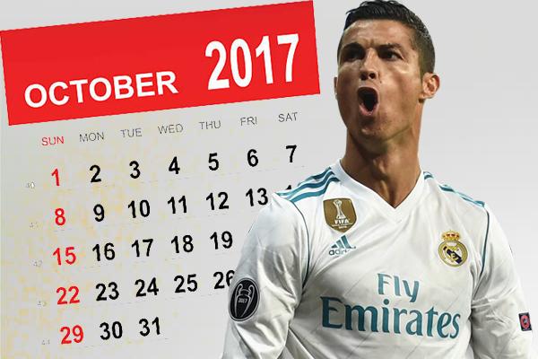 اكتوبر هو الشهر المفضل بين أشهر الموسم الرياضي للمهاجم البرتغالي كريستيانو رونالدو