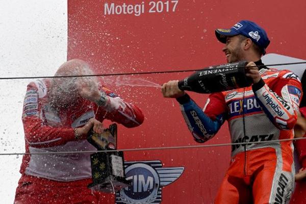باغت دراج دوكاتي الايطالي دوفيتسيوزو الاسباني مارك ماركيز في سباق جائزة اليابان الكبرى، بتجاوزه في اللفة الأخيرة والفوز بالسباق
