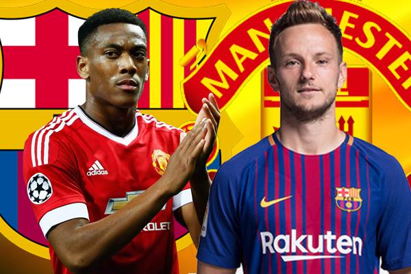 مانشستر يونايتد يريد استخدام لاعبه الفرنسي أنطوني مارسيال من أجل إغراء نادي برشلونة بالتخلي عن الكرواتي إيفان راكيتيتش