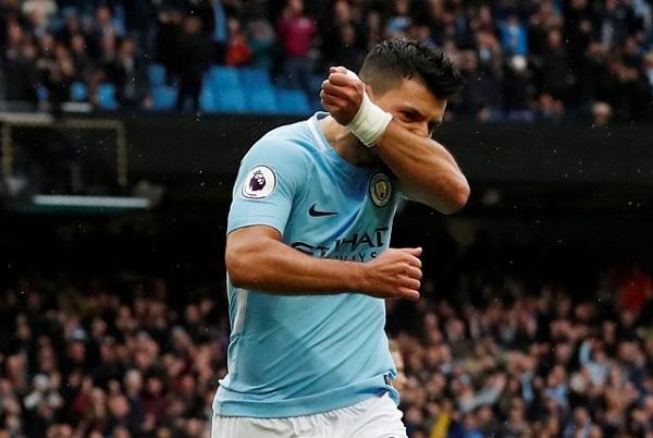 أغويرو يعادل الرقم القياسي للاهداف في تاريخ مانشستر سيتي