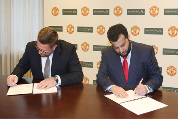 أعلنت الهيئة العامة للرياضة في السعودية توقيع مذكرة تفاهم مع نادي مانشستر يونايتد الانكليزي