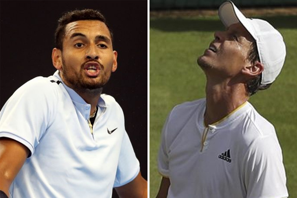 أعلن لاعبا كرة المضرب التشيكي توماس برديتش والاسترالي نيك كيريوس الخميس، انتهاء موسميهما