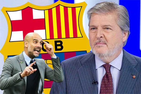 انتقد وزير الرياضة والتعليم والثقافة الإسباني نادي برشلونة والمدرب السابق للنادي بيب غوارديولا لإقحامهما الرياضة في السياسة