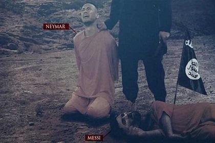 تهديد جديد من داعش لميسي ونيمار