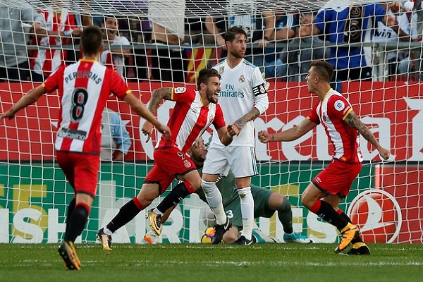 جيرونا يلحق بريال مدريد خسارة تاريخية في الليجا