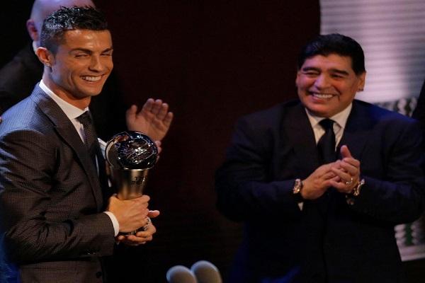 مارادونا يؤكد احقية رونالدو بالجائزة