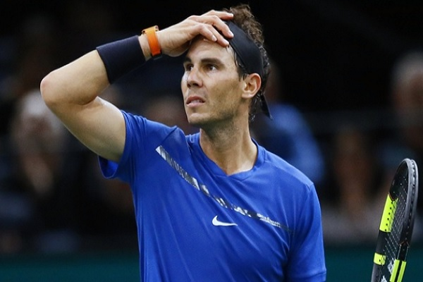انسحاب نادال من دورة باريس بيرسي لاصابة في ركبته