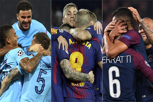 برشلونة وسان جرمان والسيتي الأفضل إعتماداً على ثلاثة معايير فنية مختلفة بعد النتائج الإيجابية التي حققوها، وعدم خسارتهم لأي مباراة حتى الآن