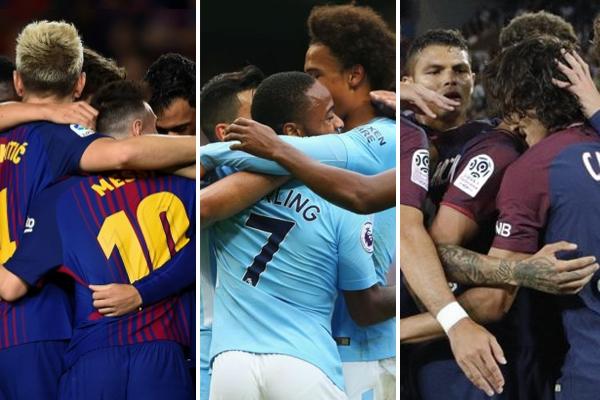 ثلاثة أندية لم تتعرض للهزيمة حتى الآن سواء في مسابقة الدوريات المحلية التي تنشط فيها أو في مسابقة دوري أبطال أوروبا