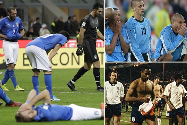 أصبح المنتخب الإيطالي ثالث منتخب يغيب عن نهائيات كأس العالم بعد منتخبي الأوروغواي وإنكلترا