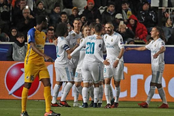 ريال مدريد يكتسح أبويل نيقوسيا ويتأهل