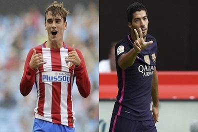 سواريز يهدد برشلونة بالرحيل في حال قدوم غريزمان