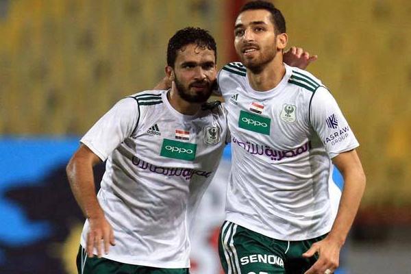 سجل هدف المصري احمد شكري من ركلة جزاء في الدقيقة 69