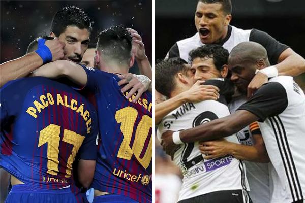 تشهد المرحلة الثالثة عشرة من الدوري الاسباني لكرة القدم قمة نارية الاحد بين برشلونة المتصدر ووصيفه فالنسيا