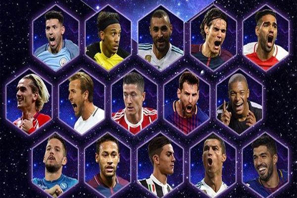 كشف الاتحاد الأوروبي لكرة القدم (يويفا) على موقعه الإلكتروني قائمة اللاعبين المرشحين ليكونوا في التشكيلة المثالية لعام 2017