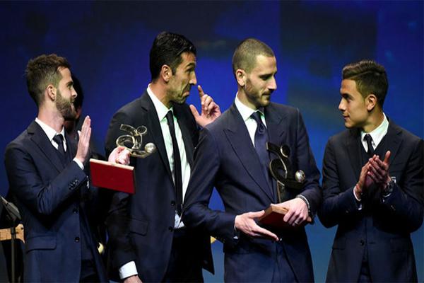 سيطر نادي يوفنتوس على جوائز الاتحاد الإيطالي لكرة القدم المقدمة للأفضل في الدوري الإيطالي خلال عام 2017