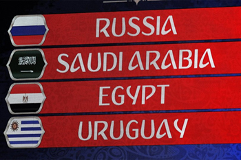 من المقرر ان تفتتح السعودية مع روسيا مباريات المونديال في 14 يونيو2018