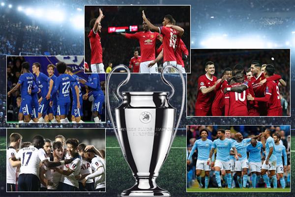 شهد ختام دور المجموعات من بطولة دوري أبطال أوروبا سابقة تاريخية بعدما تأهلت خمسة أندية من بلد واحد يمثلون الدوري الإنكليزي الممتاز