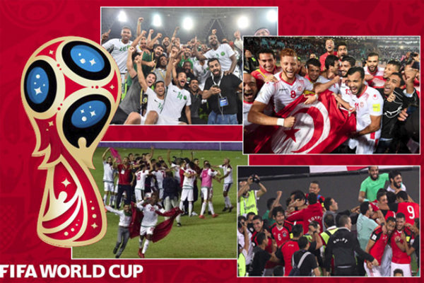 نجحت 4 منتخبات عربية هي مصر وتونس والمغرب والسعودية في التأهل لنهائيات كأس العالم
