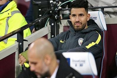 أغويرو غير واثق من مستقبله مع مانشستر سيتي