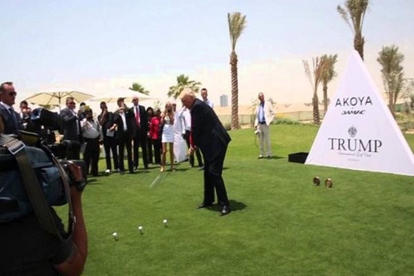 مجموعة ترامب تفتتح نادياً فخماً للغولف في دبي السبت