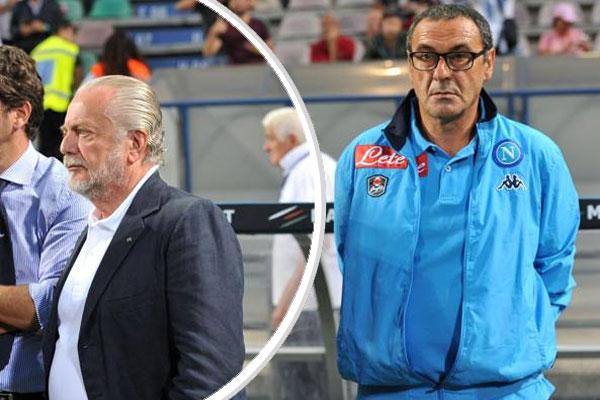 لم يكن مدرب نابولي الايطالي ماوريتسيو ساري راضيا على الاطلاق عن الانتقادات التي صدرت عن رئيس النادي