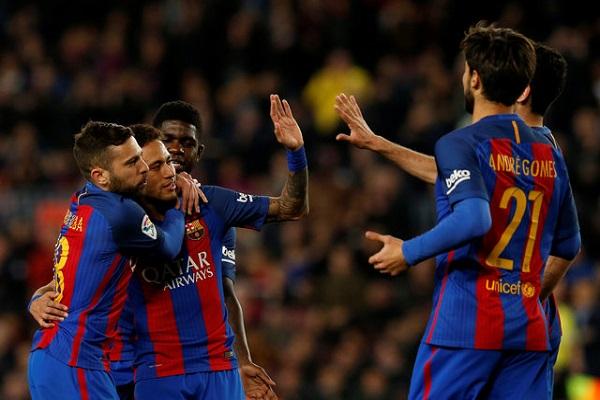 برشلونة يكتسح سبورتينغ خيخون